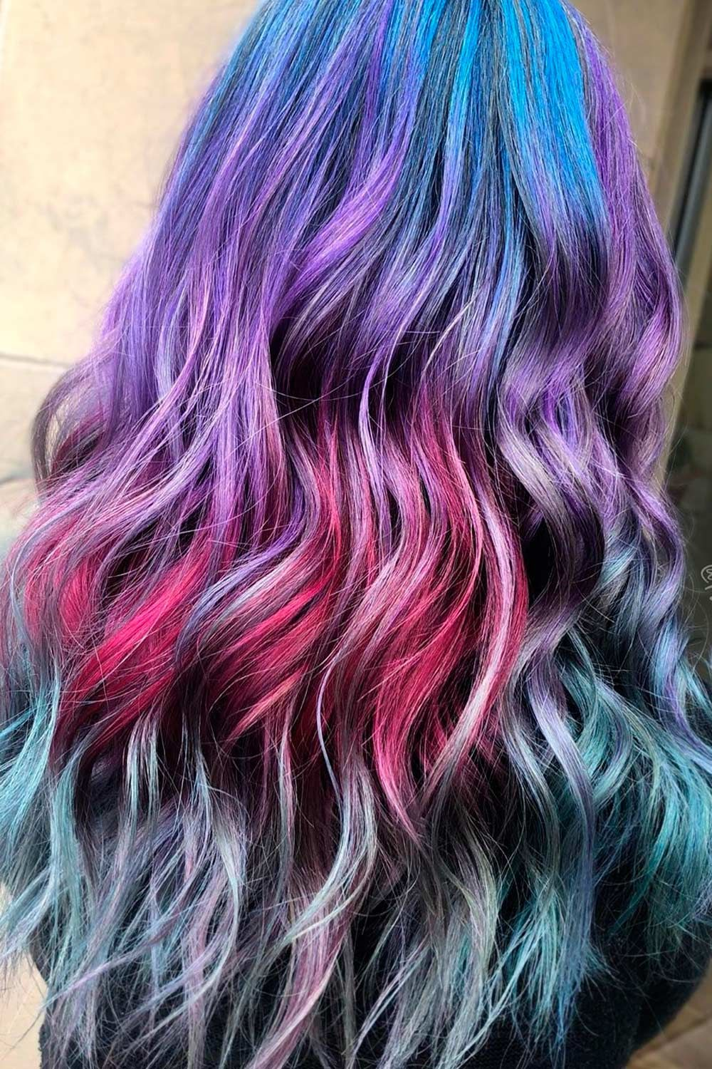 Long Galaxy Hair Ideas