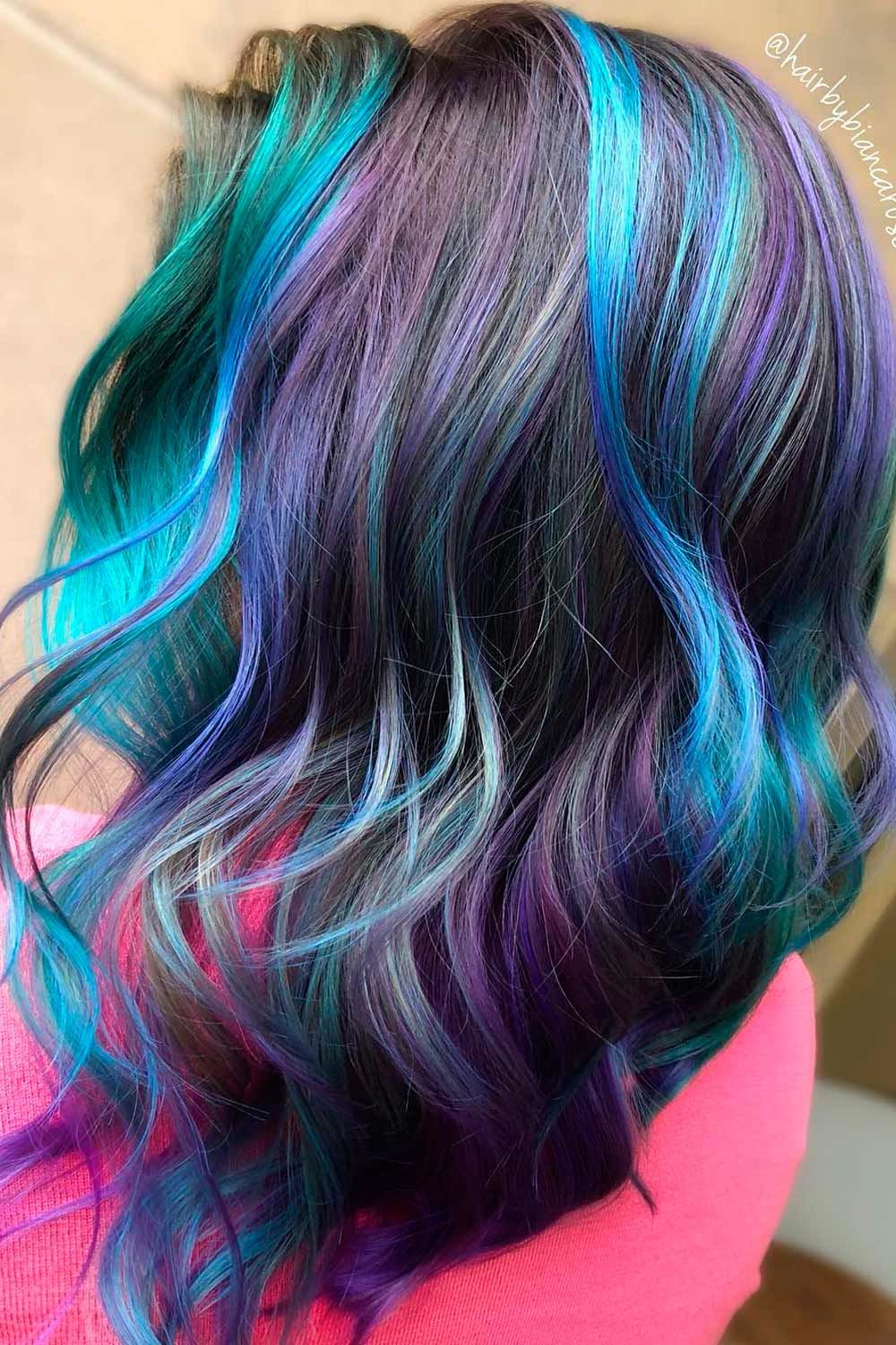 Greenish Galaxy Hair