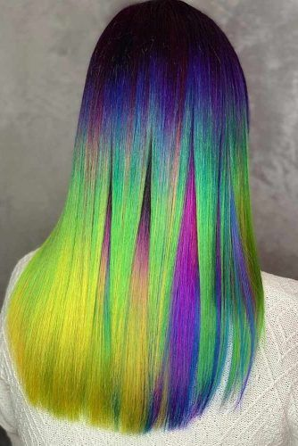 Greenish Galaxy Sleek #galaxyhair