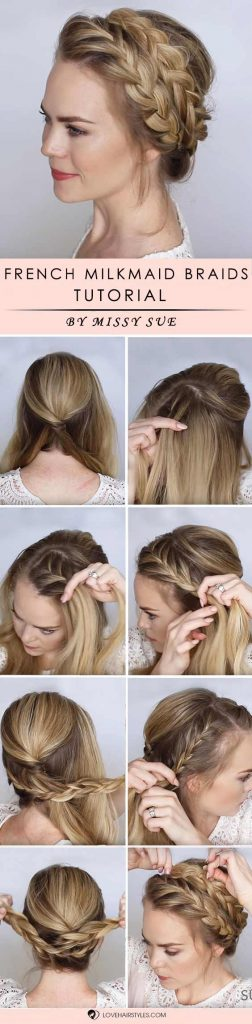 French Milkmaid Braids