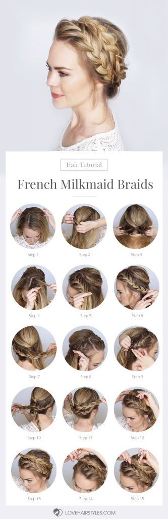 French Milkmaid Braids #braids #hairtutorial #updo