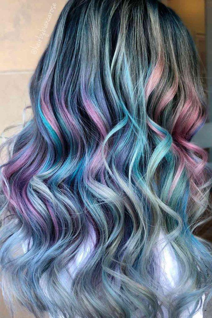 Grey Mermaid Hair Balayage
