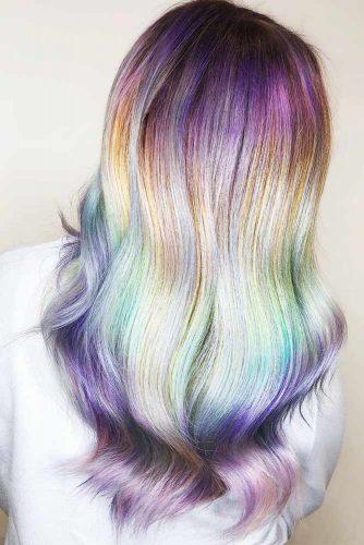 Pastel Mermaid Colors Ombre #brunette #ombre