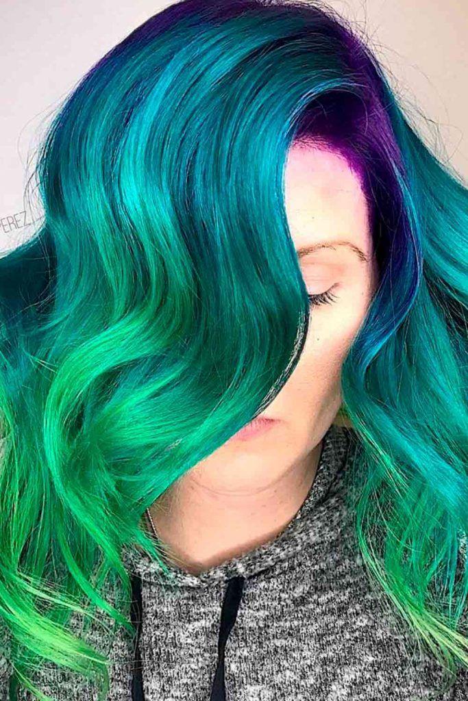 Green Mermaid Hair
