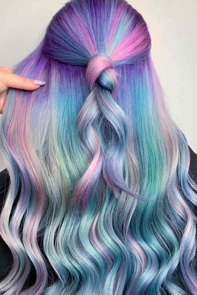Pale Mermaid Rainbow Hair