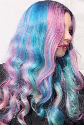 Mermaid Hair with Purple and Pink Tints picture2