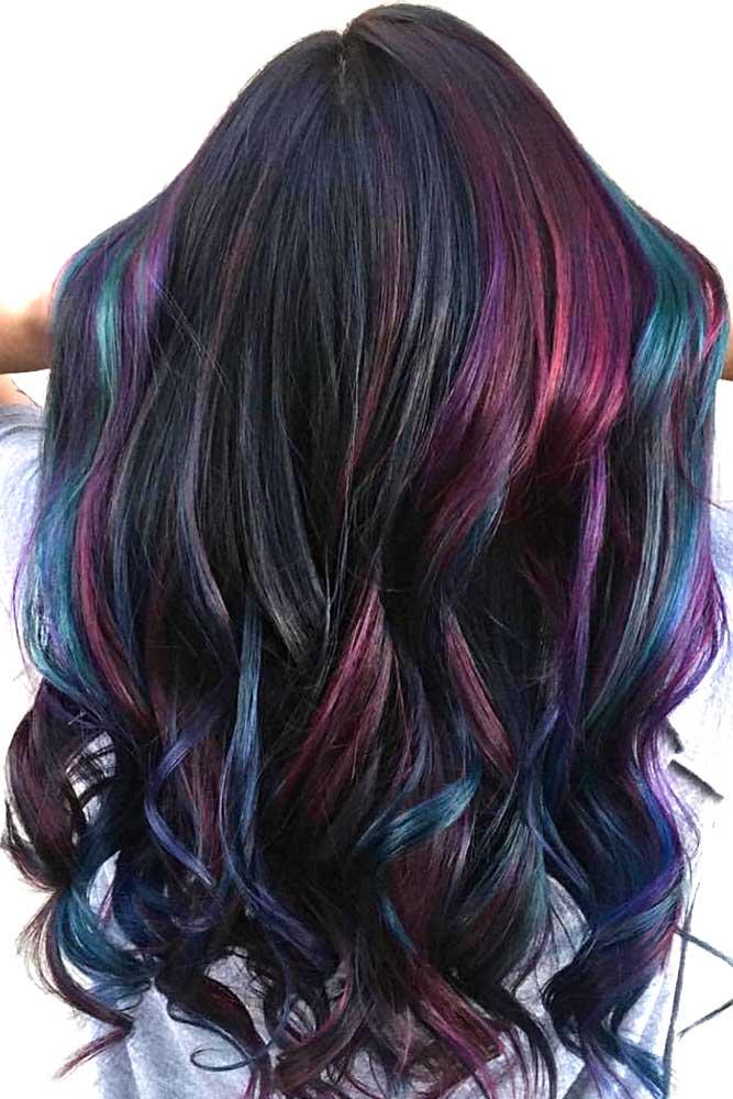 Black Oil Slick Hair