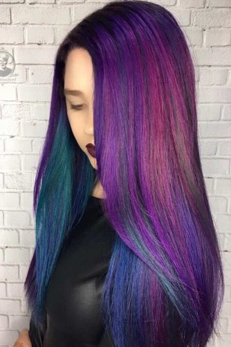 Dark Purple Oil Slick Hair Ideas picture3