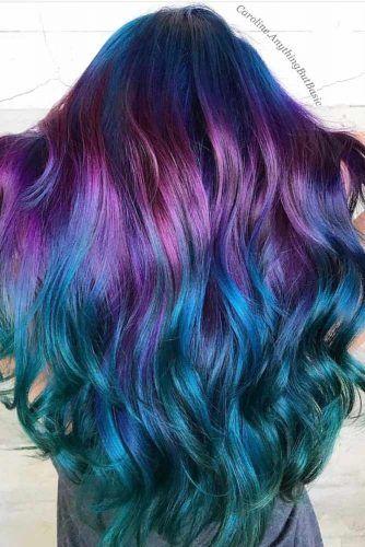 Oil Slick Ombre Hair #oilslickhair #haircolor