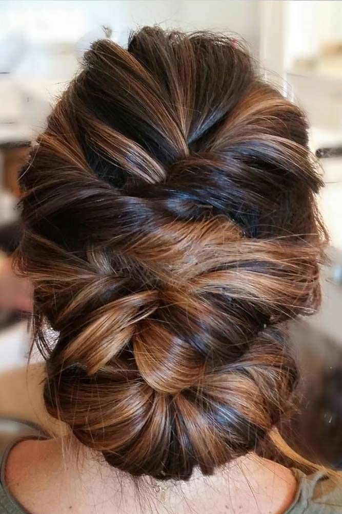 Twisted Prom Hairstyle Updos Highlights #promhairstyles #promhair