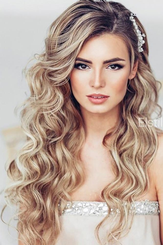 Charming Waves Brunette Roots #promhairstyles #promhair