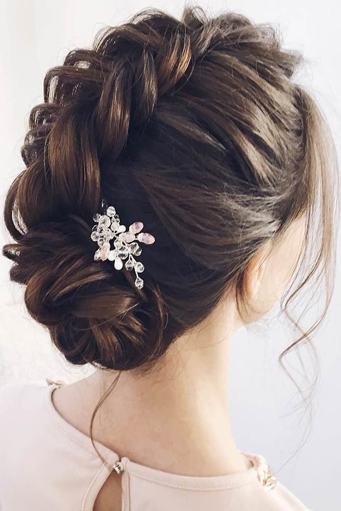Twisted Prom Hairstyle Updos Faux Hawk #promhairstyles #promhair