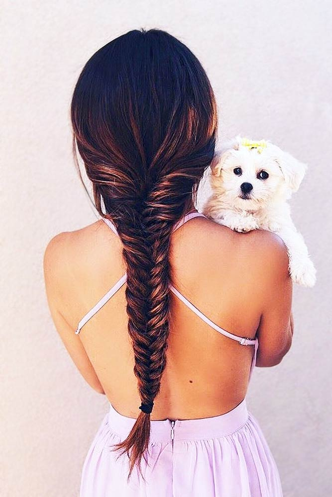 Braids Prom Hairstyles For Your Inspiration Fishtail Brunette #promhairstyles #promhair