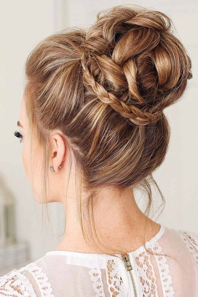 Perfect Prom Hairstyles Braided High Updos #promhairstyles #promhair