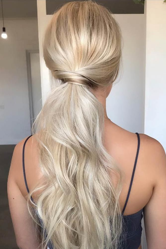 Exquisite Low Twisted Ponytails Prom Hairstyles Blonde #promhairstyles #promhair