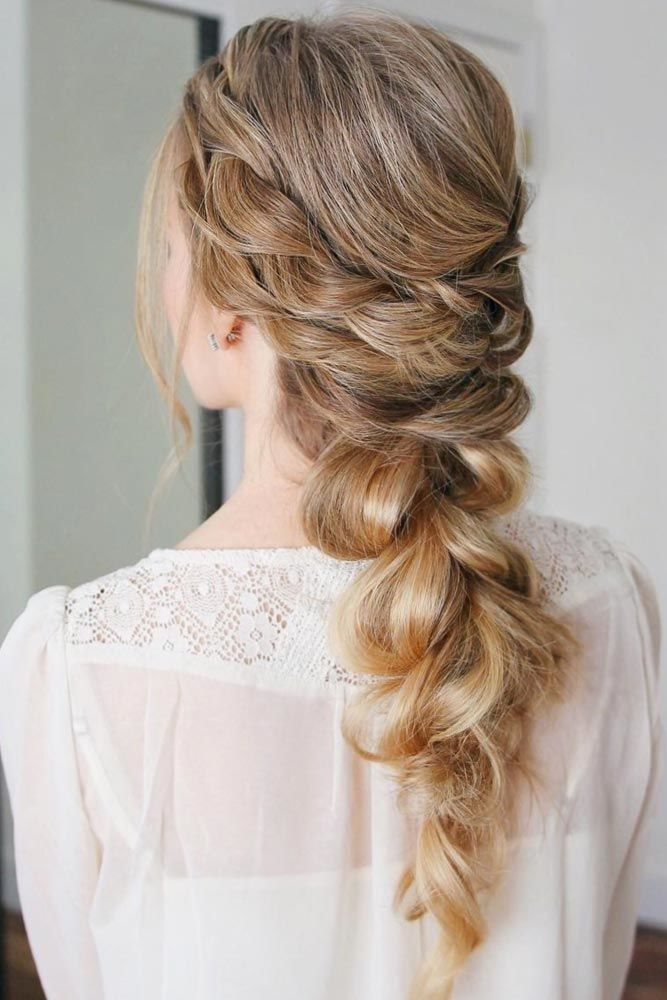 Braided Prom Hair For Boho Effect Pull Through #promhairstyles #promhair