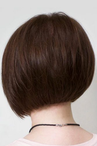 Chocolate Brown Rounded Short Bob Haircut  #shortbob #shortbobhairstyles #hairstyles #bobhairstyles