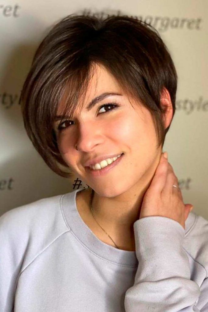 Long Pixie With Side Bang #pixie #pixiehairstyles
