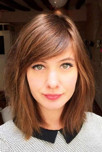 Shoulder Length Haircuts With Bangs picture1