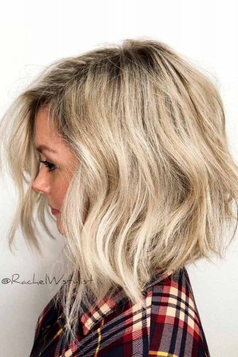 Messy Asymmetrical Shoulder Length Haircuts #shoulderlengthharcuts #haircuts #mediumhair
