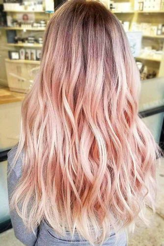 Pastel Strawberry Blonde Balayage #blondehair #strawberryblonde #balayage