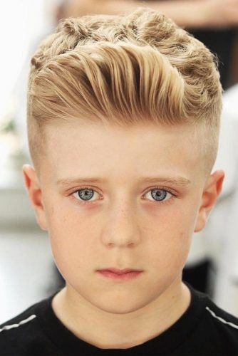 Taper Fade Boys Haircuts Blonde #boyshaircuts