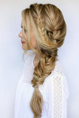 Side Swept Ponytail With Braid picture 4