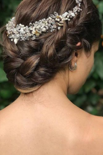 Braided Wedding Hair With Flower Crowns And Crystal Headpieces picture 5