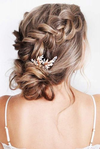 Gorgeous Wedding Hairstyles With Dutch & Three Strand Braids Double #braids #updo #bun