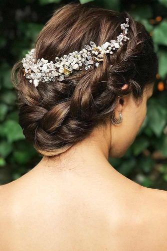 Gorgeous Wedding Hairstyles With Dutch & Three Strand Braids Updo #braids #updo