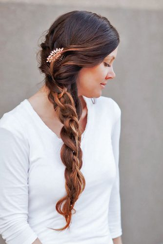 Side Swept Ponytail With Braid picture 3