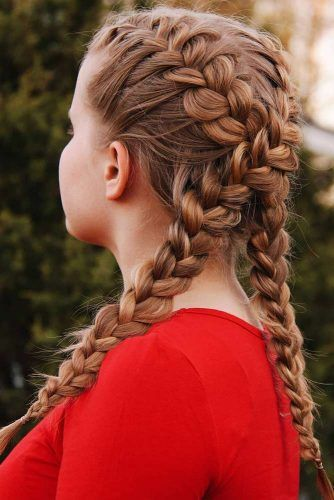 Double French Braid Hairstyles Criss Cross #braids #frenchbraid