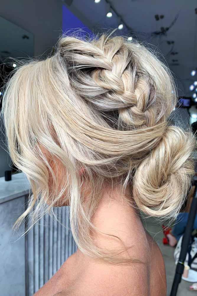 Crown Braids Into Low Buns Blonde #braids #frenchbraids