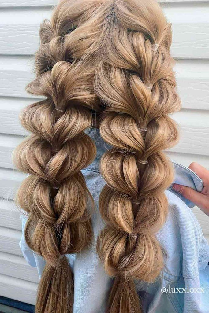 Faux French Braids