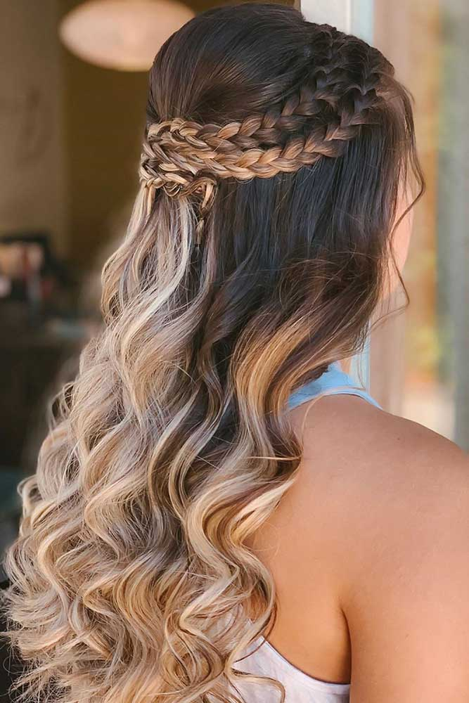 Half-Up French Braid Curls #braids #frenchbraid