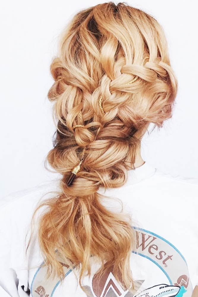 Hairstyles With Double Braids Ponytail #braids #ponytail