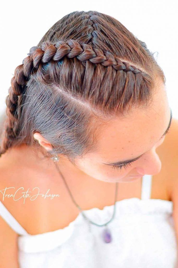Pretty French Braid Half-Up