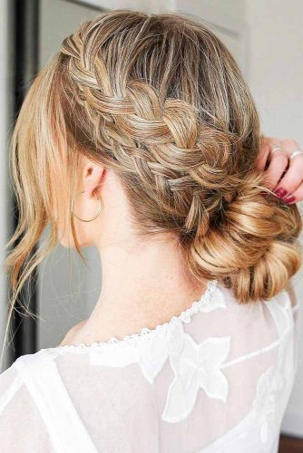 Hairstyles With Double Braids Dutch #braids #bun