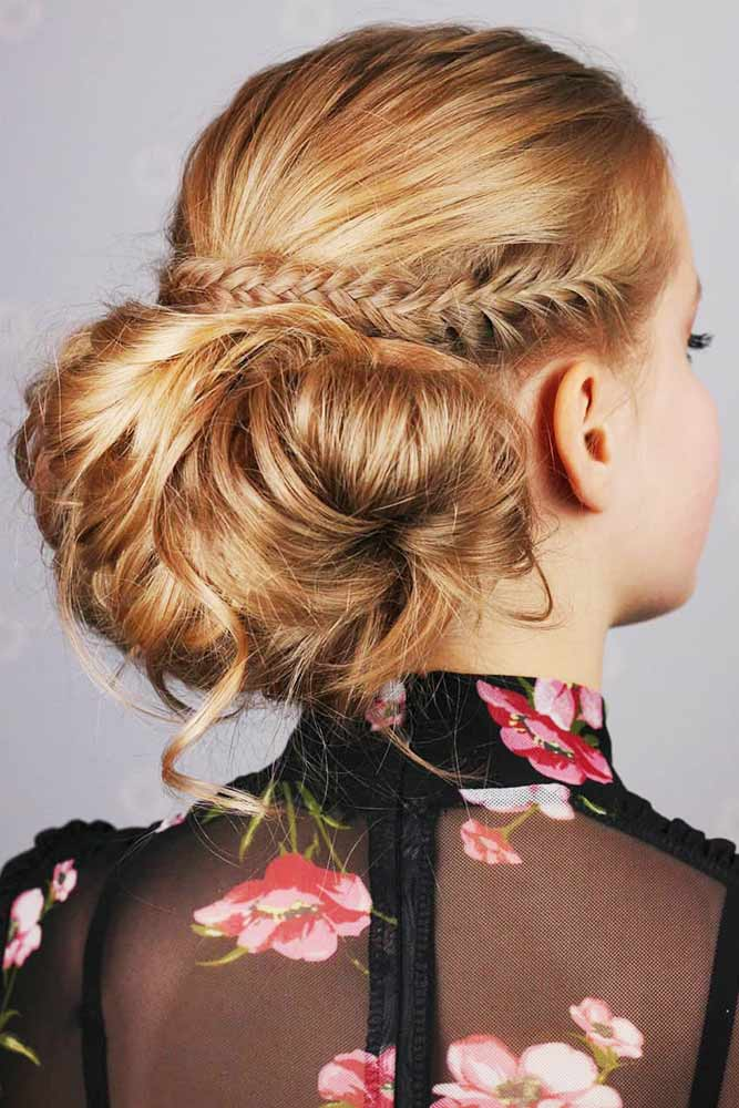 Side French Fishtail Braids Low Bun #braids #frenchbraids
