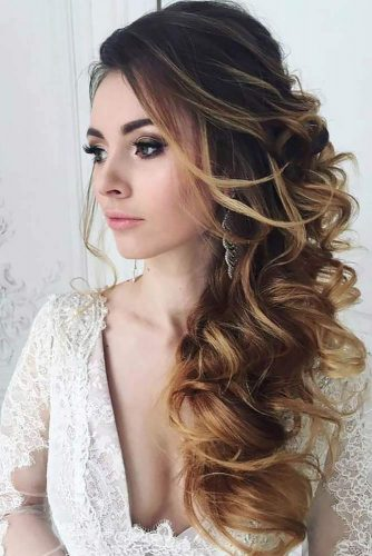 Mind Blowing Half Up Half Down Bridal Hair picture 1