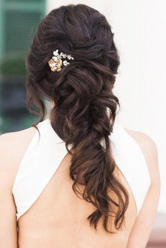Half Up Half Down Wedding Hairstyles For A Bride picture 3