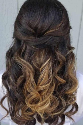 Half Up Half Down Wedding Hairstyles For A Bride picture 5