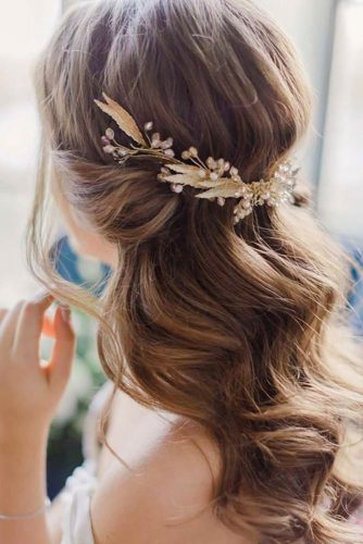 Half Up Half Down Wedding Hairstyles For A Bride picture 4