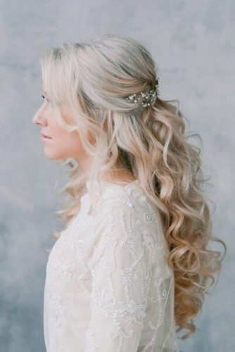 Half Up Half Down Wedding Hairstyles For A Bride picture 2
