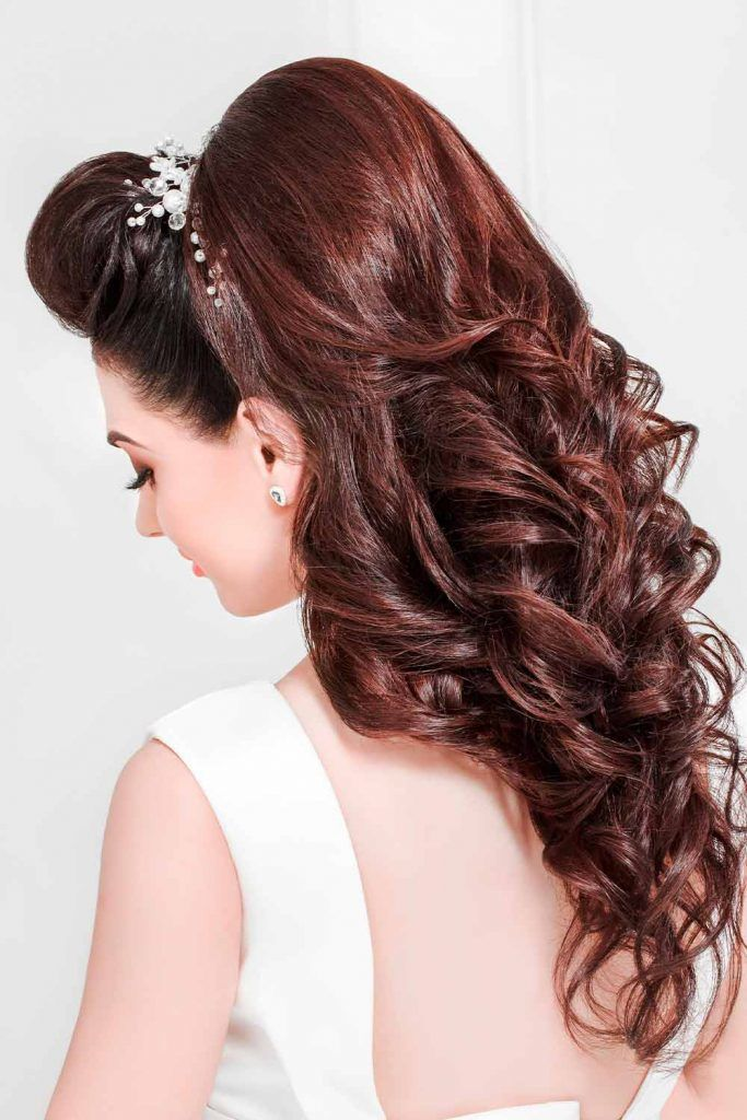 Half Up Half Down Wedding Hairstyles For A Bride
