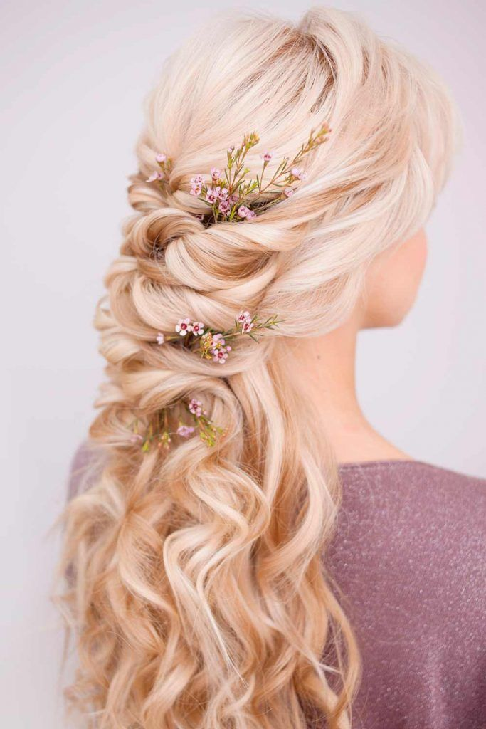 Wedding Hairstyles With Flower Accessories For Blonds