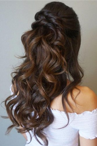 Half Up Half Down Wedding Hairstyles For A Bride picture 1