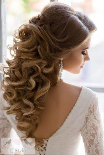 Mind Blowing Half Up Half Down Bridal Hair picture 3