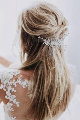 Half Up Half Down Wedding Hairstyles For A Bride picture 6
