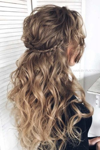 Half Up Half Down Braided Hair With Stunning Waves #longhair #braidedhairstyle